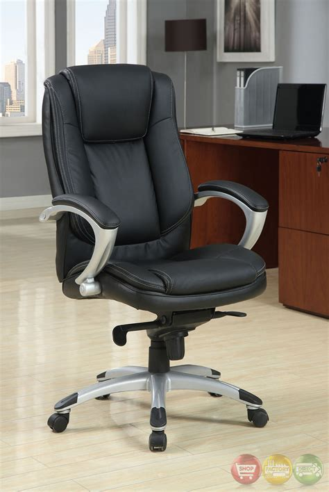 hillsborough black and silver office chair with padded