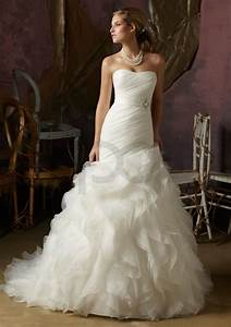 Organza ruffle wedding dress for Organza ruffle wedding dress
