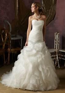 Organza ruffle wedding dress for Organza ruffle wedding dress