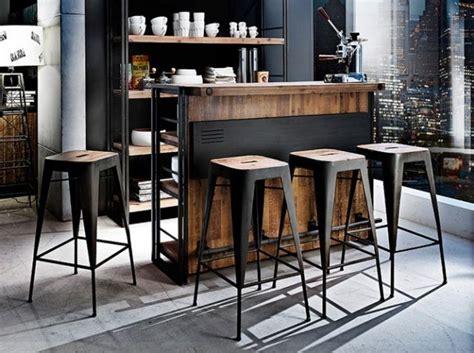 bar cuisine bois tabouret de bar bistrot bois maison design bahbe com