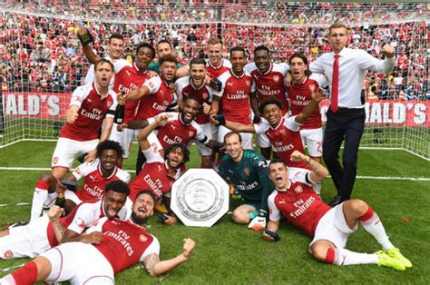 arsenal  chelsea gunners community shield celebrations