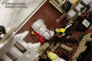 massive sinking lego titanic required 120 000 pieces to