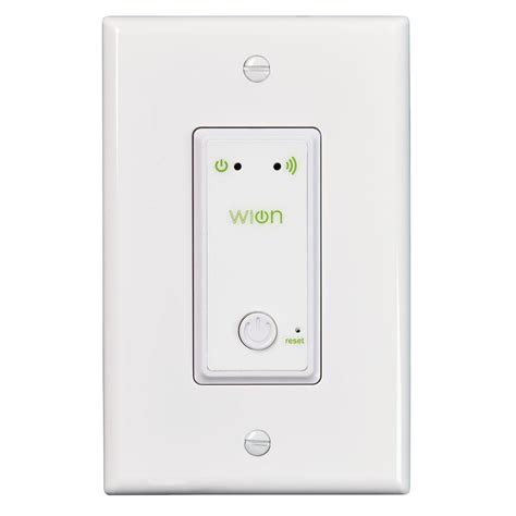 woods wion indoor wi fi in wall light switch with wireless switch and programmable timer 50052