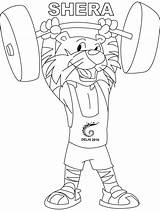 Coloring Weightlifting Shera Clipart Line She Clip Library Club sketch template