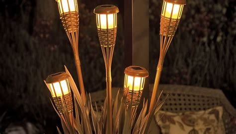 tiki torch lights brighten up your outdoor entertaining space with a planter 2738