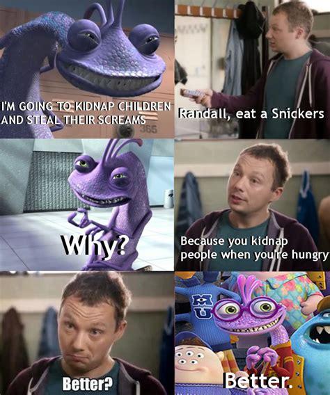 Randall Meme - randall boggs snickers meme by toxic dolls on deviantart