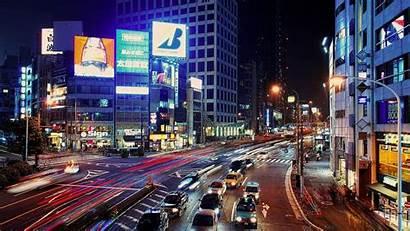 Japanese Night Traffic Cities Wallpapers Road Desktop