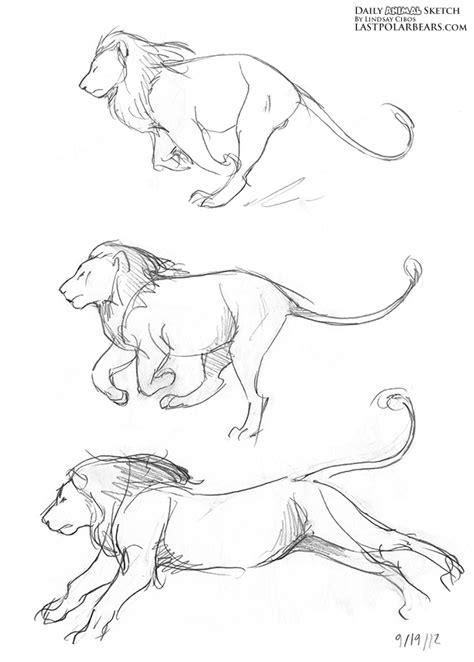 running animals drawing