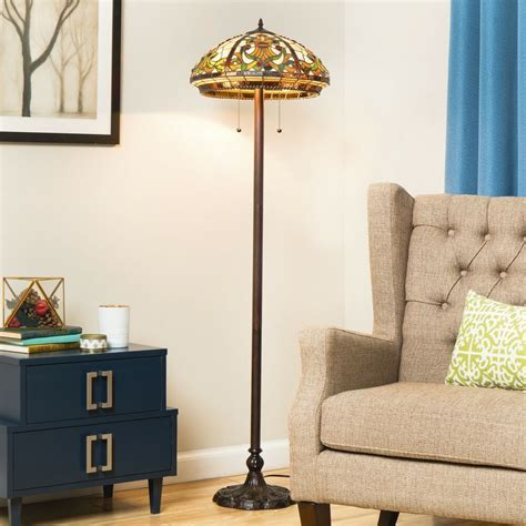 tiffany style classic floor lamp stained glass colorful