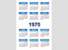 Calendário 1970 para imprimir e download em PDF abc