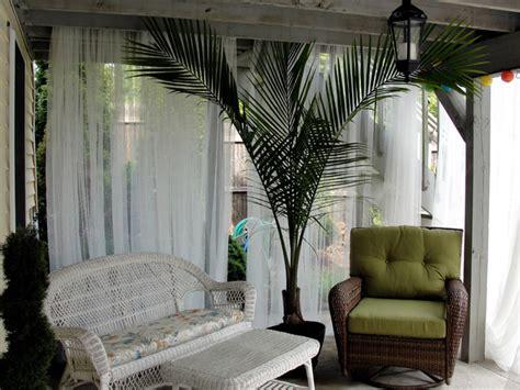 deck cabana seating area tropical patio