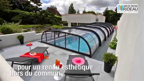 abri de piscine rideau collection elliptik abri galb 233 mi haut