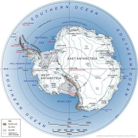 antarctica map antarctica satellite image geologycom