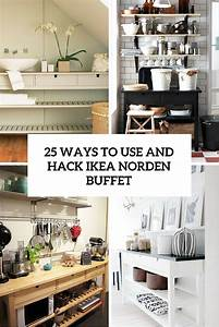 25 Ways To Use And Hack IKEA Norden Buffet - DigsDigs