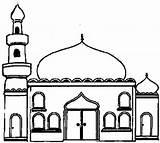 Mosque Mosquee Coloring Cours Enfants Pour Album Buildings Architecture sketch template