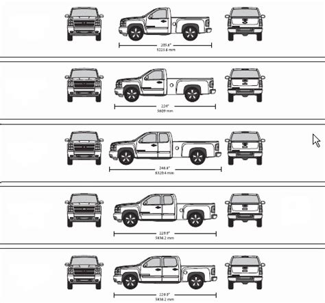 truck bed dimensions chart zorginnovisie