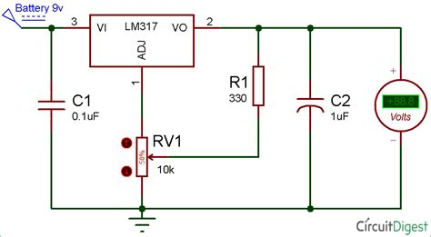 the popular lm317 voltage regulator ic is designed to deliver not more than 1 5 s however by lm317 variable voltage regulator circuit diagram electronic circuit diagrams in 2019 circuit