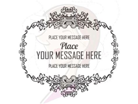 engraved decorative vintage ornate frames digital clip art