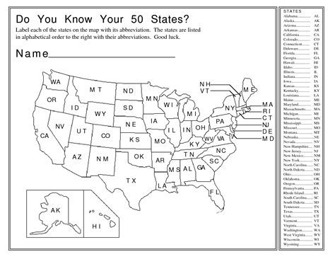 images  fifty states worksheets blank