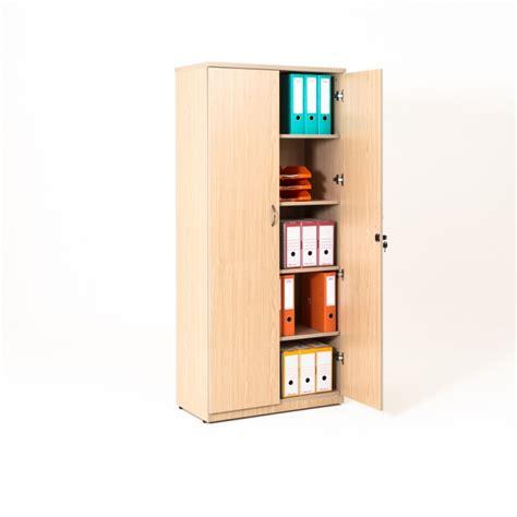 armoire bureau bois armoire de bureau portes battantes en bois 4 coloris bd