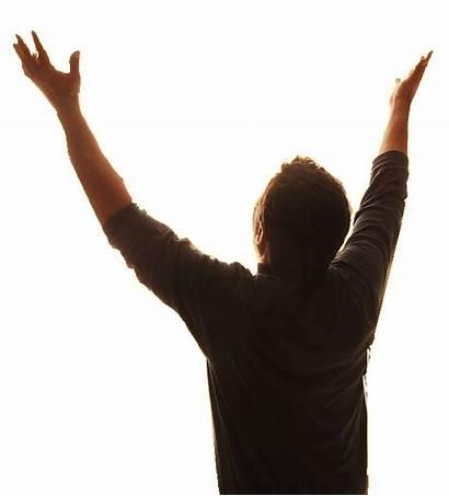 Worship Praise Hands Clip Transparent Raised Silhouette