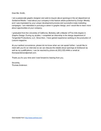 write  job interest letter  sample letters