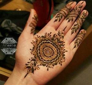 Easy Mehndi Design For Hands 2017 With Beautiful Blue ...