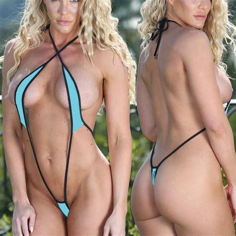 2018 Exotic Teeny Micro Bikini Set Sunbath Beach Swim Lingeries Swimwear Female Sex Extreme