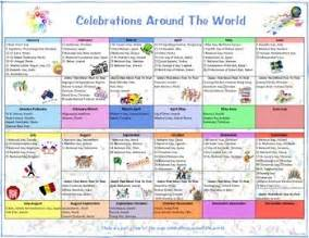 celebrations around the world calendar and flip book by bray