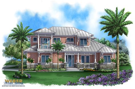 coastal house plan bay cottage house plan weber design group
