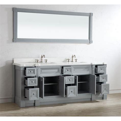 gray double sink vanity 84 inch gray finish double sink bathroom vanity cabinet