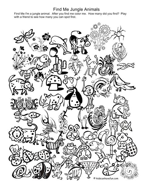 printable coloring pages  animals   jungle  spy