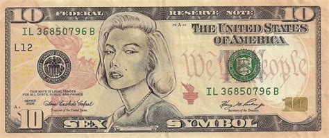 dollar bills turned  portraits  american icons