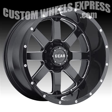 gear alloy 726mb big block gloss black milled 20x12 8x6 5 44mm 726mb 2128144 ebay