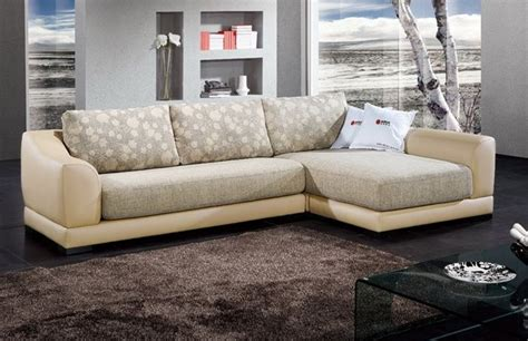 cream microfiber sectional sofa cream color sectional with leather frame and microfiber