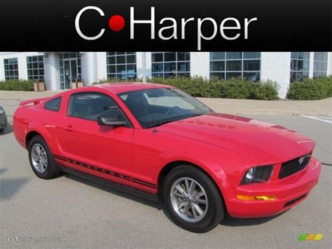 2005 Torch Red Ford Mustang V6 Deluxe Coupe #68093148