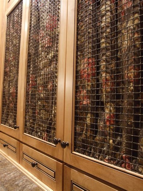 wire mesh for cabinets cabinet door options showing oil rubbed bronze wire mesh