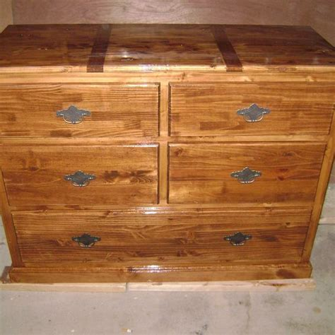 Knotty Pine Bedroom Furniture by Custom 5 Drawer Knotty Pine Dresser By West End