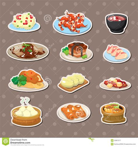 the of cuisine food stickers stock vector image of cuisine