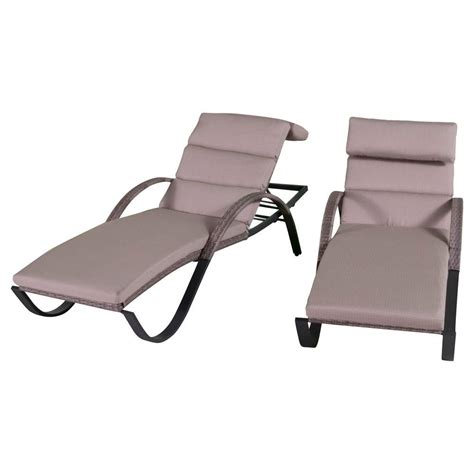 rst brands cannes patio chaise lounge with slate grey