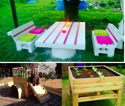 fabriquer bureau bois 10 idées de créations en palettes pour le jardin des idées