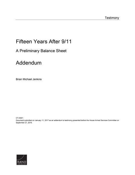 Fifteen Years After 9/11: A Preliminary Balance Sheet