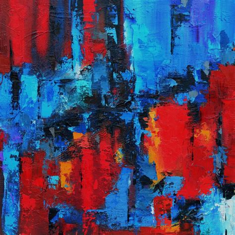 Abstract Black And Blue Painting by Abstract Paintings By Elise Palmigiani