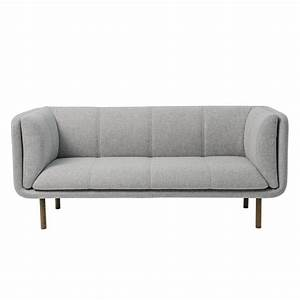 bloomingville stay bench sofa light grey living and co With grey wool sectional sofa