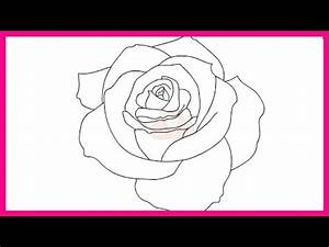 How to draw a rose step by step for beginners - YouTube