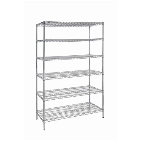 6shelf Steel Commercial Shelving Unithd32448rcps The