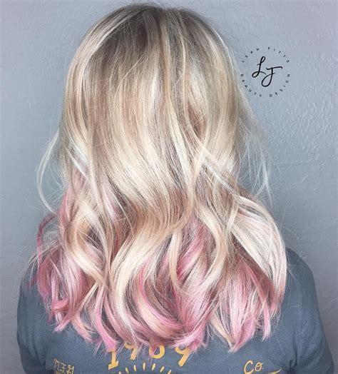 Pin By Suzy Gudgeon On Hair Pink Blonde Hair Hair Hair