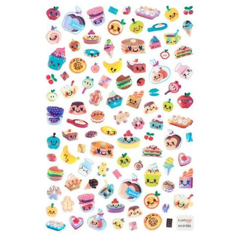cuisine stickers kumhong fridge food stickers sticker stack