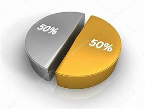 Pie Chart 50 50 Percent  U2014 Stock Photo  U00a9 Threeart  4660180