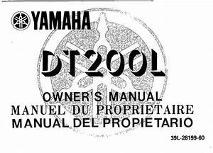 Yamaha Dt200 L 1985 Owner U2019s Manual  U2013 Pdf Download